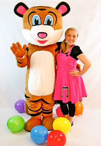 Pevan the Tiger and Sarah children's show