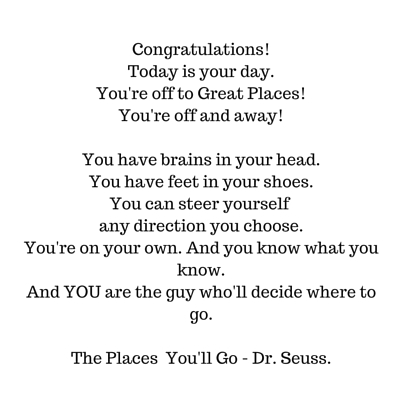 Dr Seuss - where will you go?