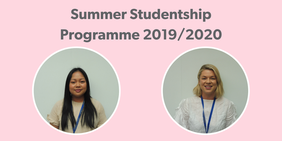 We funded two students in the Summer Studentship Programme