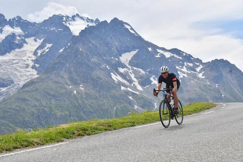 Partner Daniel Reid training for True Cycle Challenge