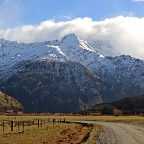 Homestead Peak - Matukituki Valley.  Photo:  Wynston Cooper