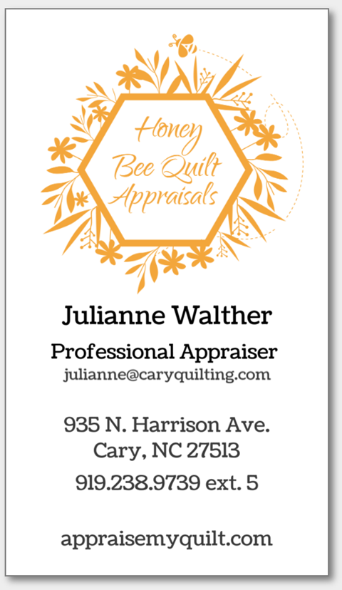 Appraisals at Cary Quilting Company