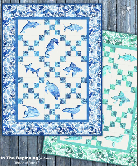 Amazing Ocean Quilt by In the Beginning Fabrics