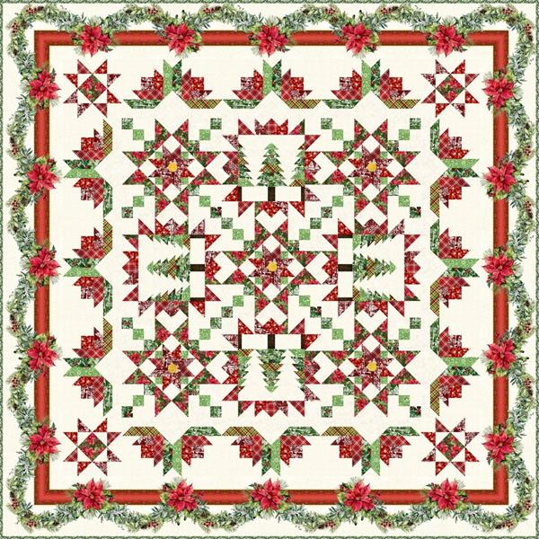 Poinsettia Block of the Month at Cary Quilting