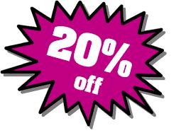 20% off online