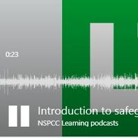 screenshot of podcast playing