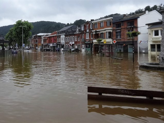Flooding in Belgium, July 2021 Credit: Régine Fabri