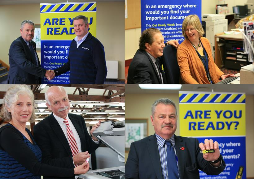 Collage of Southland Mayors during Get Ready Week.