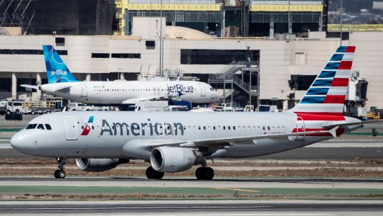 An American Airlines plan on the tarmac