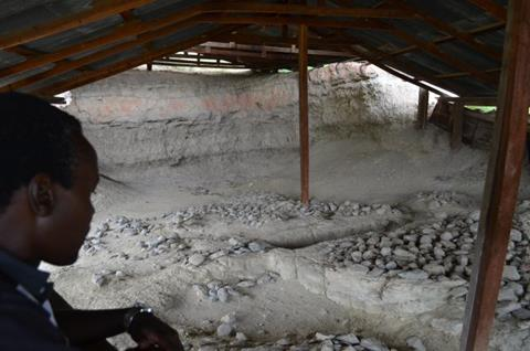 Kenya's Olorgesailie archaeological site is piled with stone artifacts from hundreds of thousands of years of proto-human habitation. (Kevin Krajick/Earth Institute)