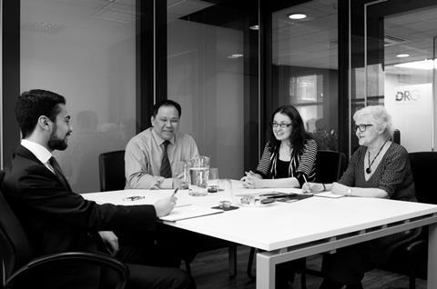 DRG tax team in Board Room