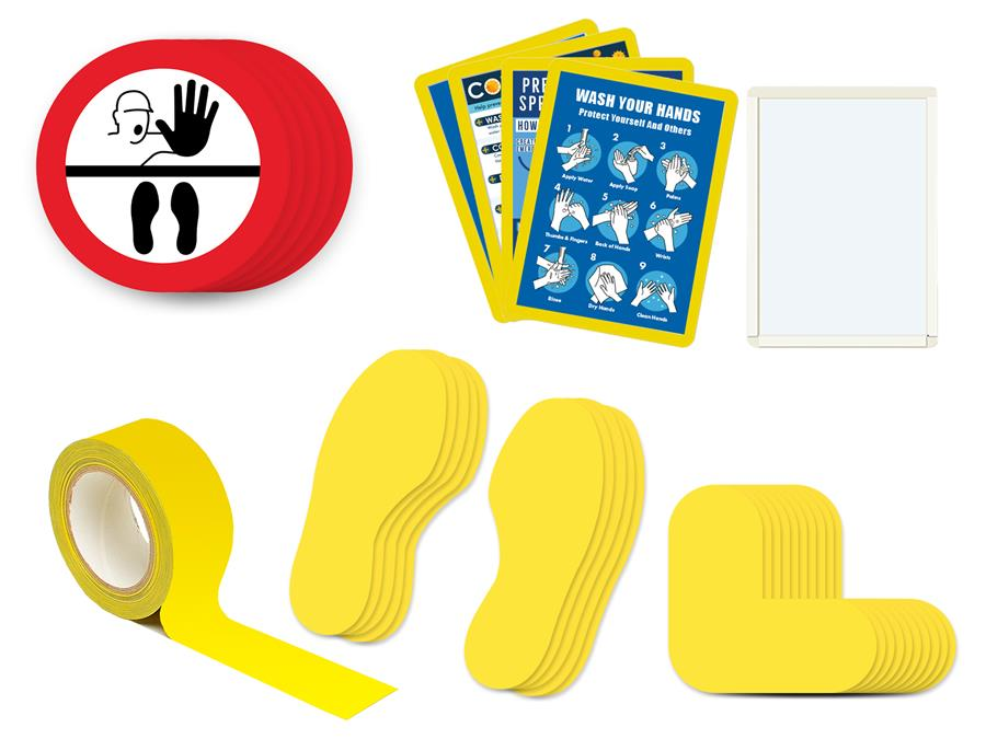 covid 19 floor stickers kit