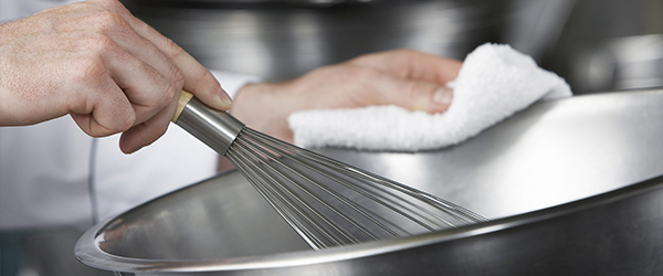 Picture of chef whisking in a bowl