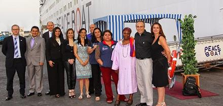 Promotores da região e representantes da UNISDR e do Barco da Paz reunidos para debater rumos da Campanha