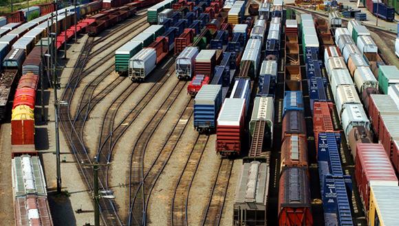 Freight train holding yard