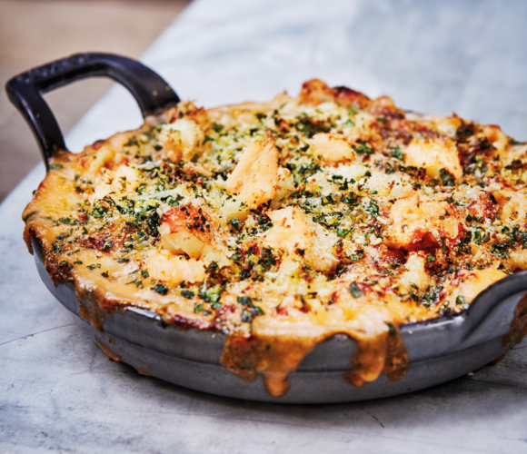 Recipe of the Month - Crab Macaroni Cheese with Lemon Brioche and Tarragon