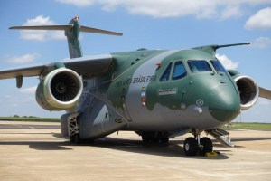 A Brazilian Air Force KC-390. Credit: Nigel Pittaway