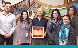 Windsor Essex County Health Unit receiving an award