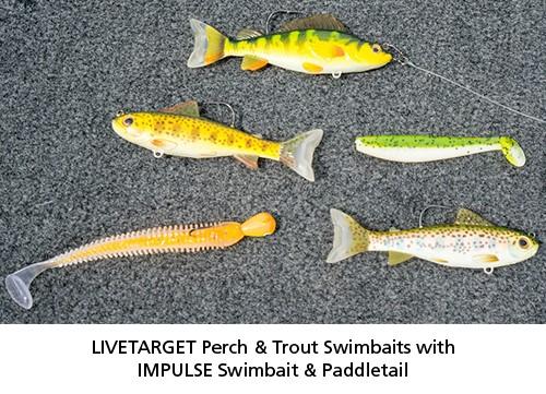 LIVETARGET Perch & Goby Swimbaits and Northland IMPULSE Core Swimbaits