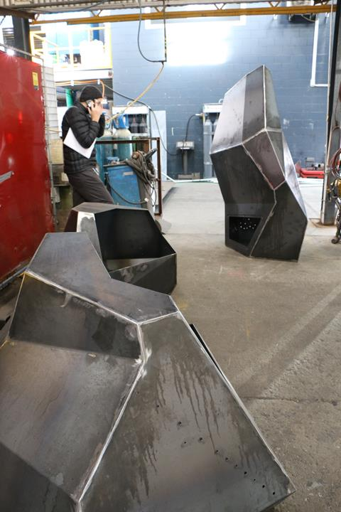 Artwork fabrication at Dynamic Welding