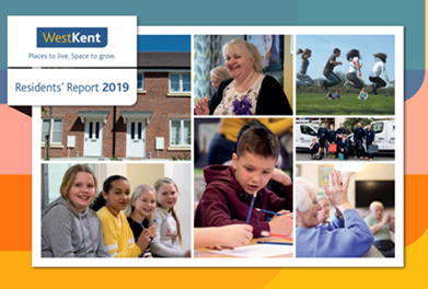 Front page of the West Kent annual residents report