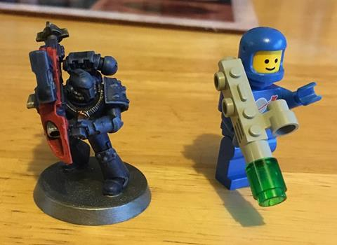 Space Marine and Lego Space Marine!