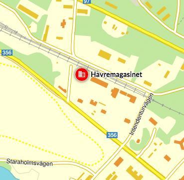 Karta som visar vägen till Havremagasinet