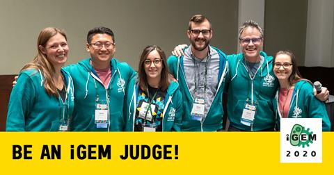 """img: """"Be an iGEM Judge! iGEM 2020"""""""