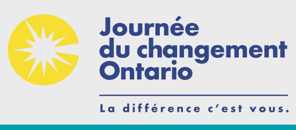 Logo : Journée du changement Ontario - La différence c'est vous.