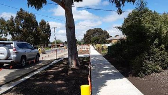 New footpath on Wellington St in Wallan