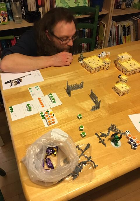 First playtest with Carl of Open Combat fame