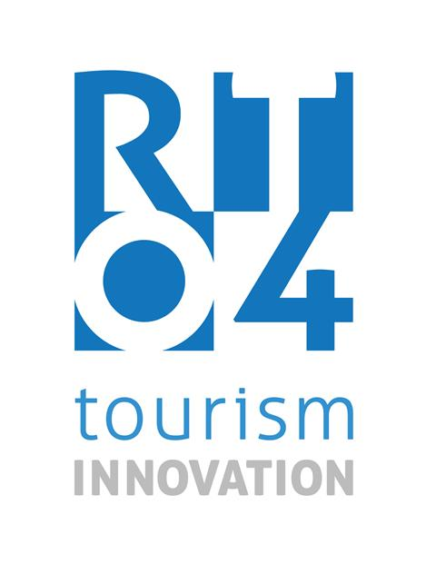 This is the logo for RTO4 - Regional Tourism Organization Four