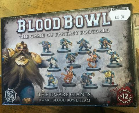 New Box of Blood Bowl Dwarfs