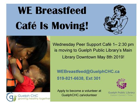 This is the poster promoting our partnership program with Guelph Community Health Centre's WE Breastfeed program.