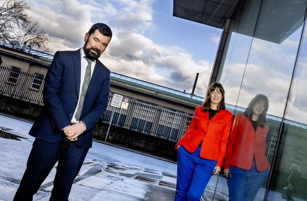 Minister of State for Community Development and Charities, Joe O'Brien TD and Deirdre Mortell, CEO of Rethink Ireland. Pic: Marc O'Sullivan.