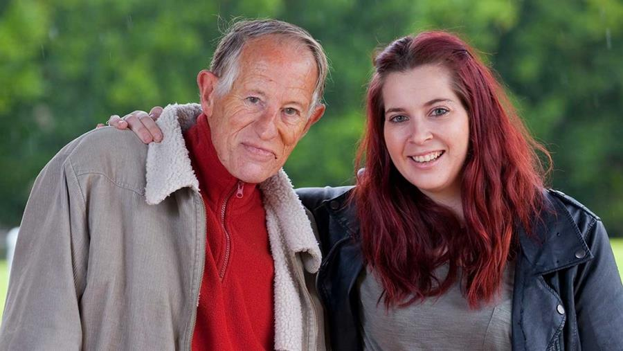 Picture: Flourish peer worker and client