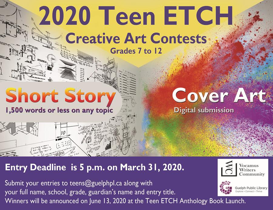 Enter our Teen ETCH Creative Art Contests by March 31, 2020.
