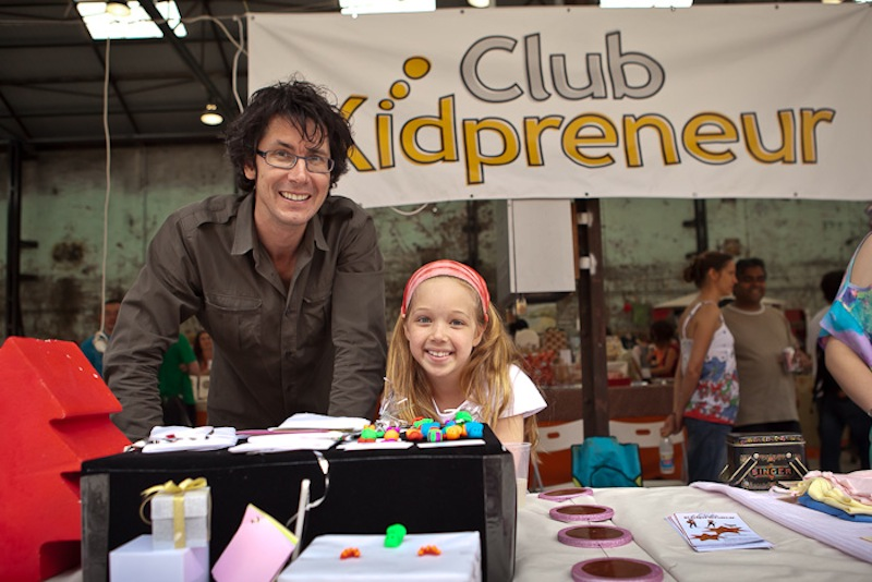 Creel Price with a Kidpreneur