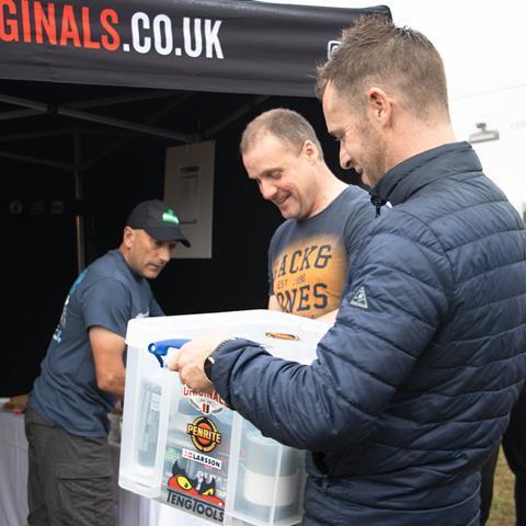 Steve Carthy Racing box prize draw winner Ant Hart