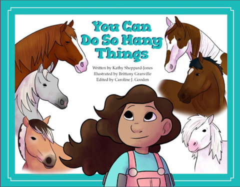 You Can Do So Many Things Cover Image with a little girl looking at horses