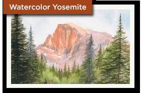 Watercolor Yosemite