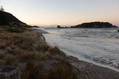 Mt Maunganui beaches at 8:30pm February 1 [R Bell]