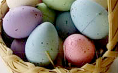 Decorate Easter eggs at Tondoon Botanic Gardens