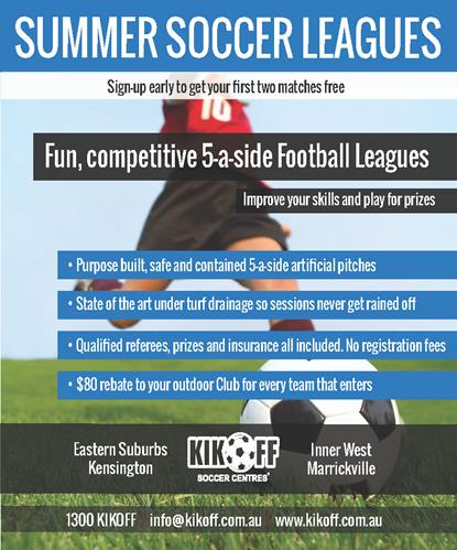 KikOff Summer Soccer Leagues