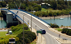 Matthew Flinders (Marina) Bridge in Gladstone