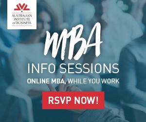 Ad: Australian Institute of Business - MBA Program