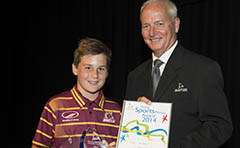 Photo of a 2014 Australia Day Award winner with Cr Chapman