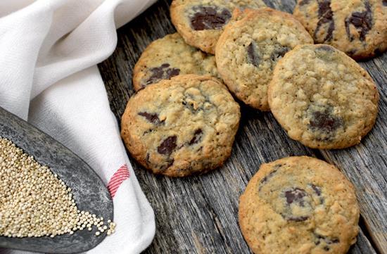 Quinoa chocolate chunk cookies