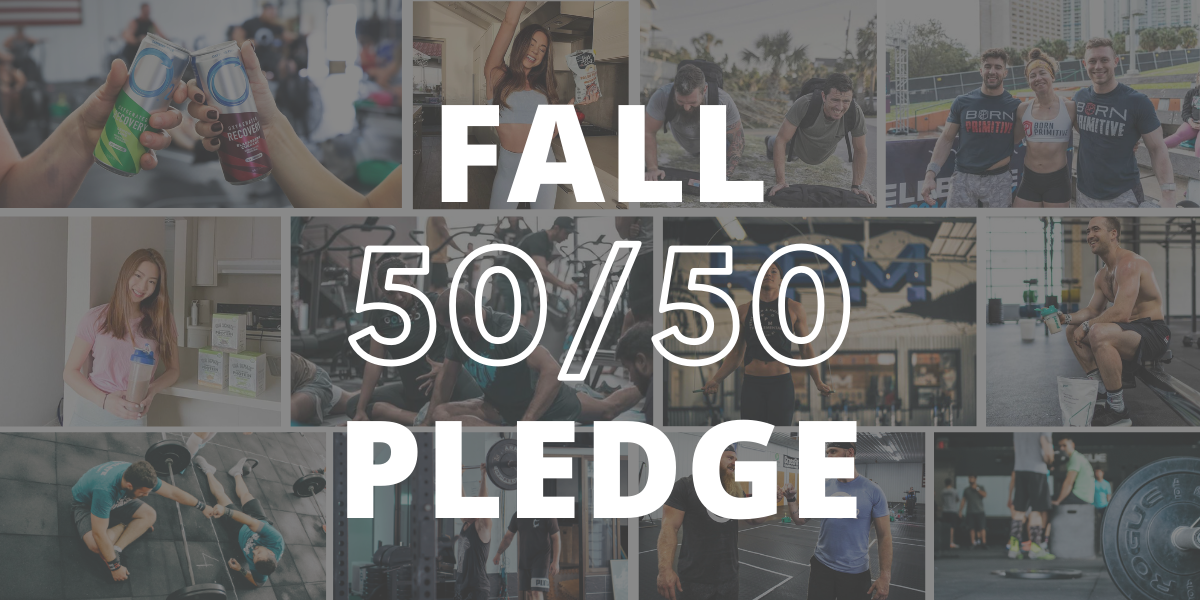 Support your gym with brands you love. The fall 50/50 Pledge kicks off today!