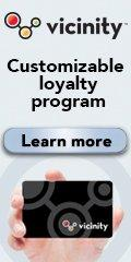 Ad: Vicinity - Customizable Loyalty Program